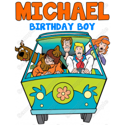 Scooby Doo Birthday Personalized Custom T Shirt Iron on Transfer Decal #2