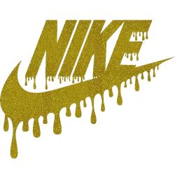 Swoosh Nike Drip Logo Iron On Heat Transfer Vinyl HTV