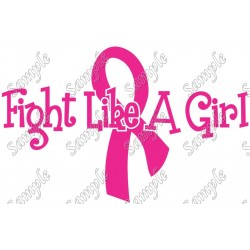 Breast Cancer Awareness Fight like a Girl T Shirt Iron on Transfer Decal #5