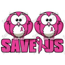 Breast Cancer Awareness Save Us Shirt Iron on Transfer Decal #12