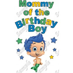 Bubble Guppies Mommy of the Birthday Boy Personalized Custom T Shirt Iron on Transfer Decal