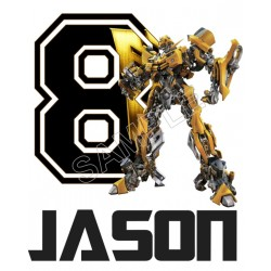 Bumblebee (Transformers) Birthday Personalized Custom T Shirt Iron on Transfer Decal #1