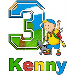 Caillou Birthday Personalized Custom T Shirt Iron on Transfer Decal #1