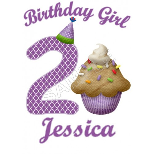 Cupcake Birthday Personalized Custom T Shirt Iron on Transfer Decal #1 by www.shopironons.com