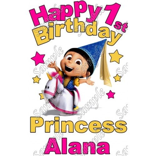 Agnes Despicable me Birthday Princess Personalized T Shirt Iron on Transfer #17 by www.shopironons.com