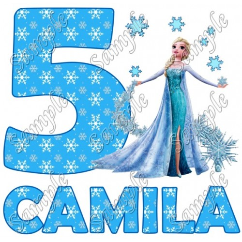 Frozen Elsa Birthday Personalized Custom T Shirt Iron on Transfer Decal #41 by www.shopironons.com