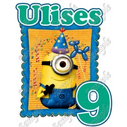 Minions Despicable Me Birthday Personalized Custom Iron on Transfer Decal #20