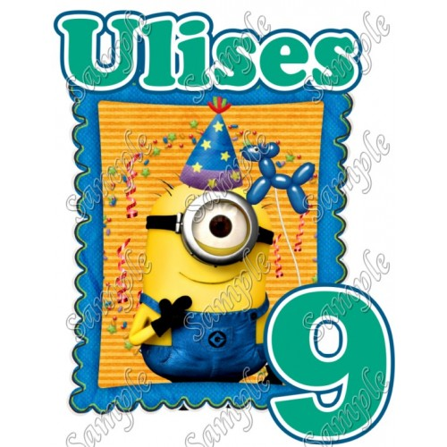 Minions Despicable Me Birthday Personalized Custom Iron on Transfer Decal #20 by www.shopironons.com