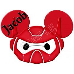 Disney Big Hero Baymax Custom Personalized T Shirt Iron on Transfer Decal #1