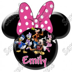 Disney Vacation Minnie Mouse Personalized Custom T Shirt Iron on Transfer Decal #27