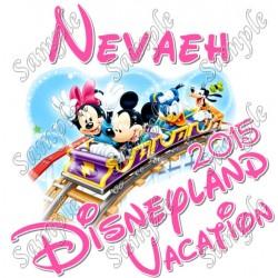 Disneyland Vacation Cruise Personalized Custom T Shirt Iron on Transfer #5