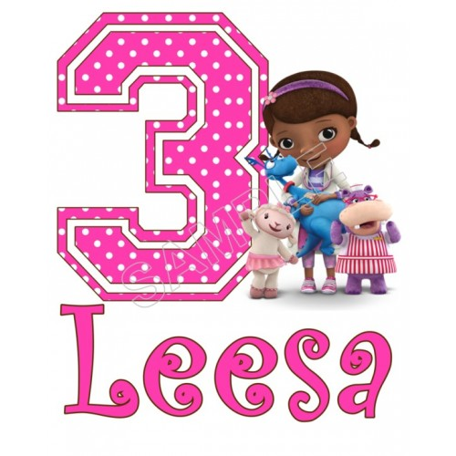Doc McStuffins Birthday Personalized Custom T Shirt Iron on Transfer Decal #71 by www.shopironons.com