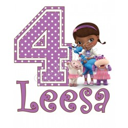 Doc McStuffins Birthday Personalized Custom T Shirt Iron on Transfer Decal #72