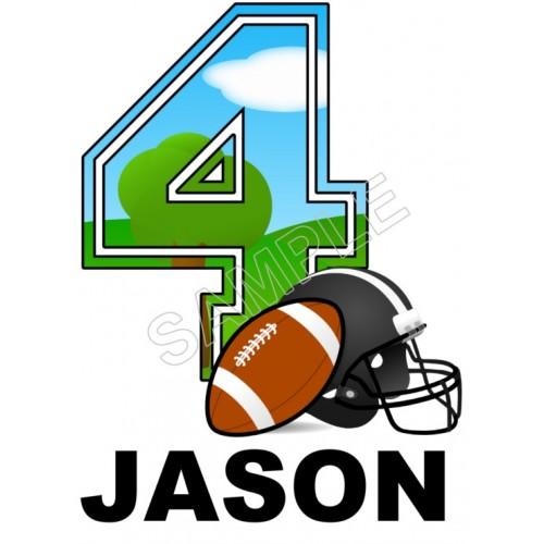 Football Birthday Personalized Custom T Shirt Iron on Transfer Decal #1 by www.shopironons.com