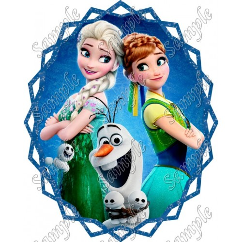 Frozen Fever Anna Elsa T Shirt Iron on Transfer Decal #4 by www.shopironons.com