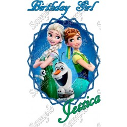 Frozen Fever Birthday Girl Personalized Custom T Shirt Iron on Transfer Decal #2