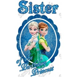 Frozen Fever Birthday Personalized Custom T Shirt Iron on Transfer Decal #1