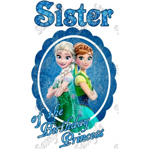 Frozen Fever Birthday Personalized Custom T Shirt Iron on Transfer Decal #1 by www.shopironons.com