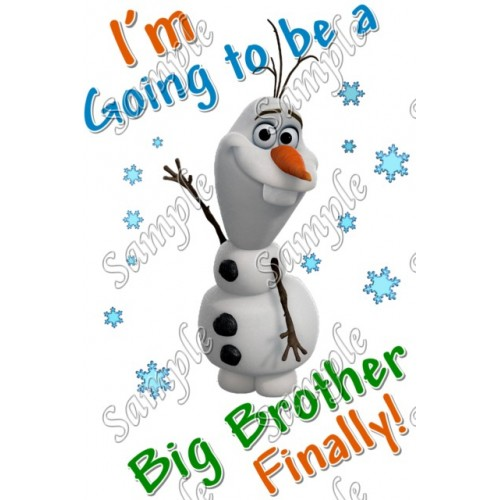 Frozen Olaf Personalized Custom T Shirt Iron on Transfer Decal #7 by www.shopironons.com