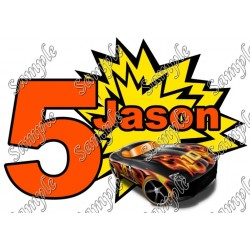 Hot Wheels Custom Personalized T Shirt Iron on Transfer Decal #89