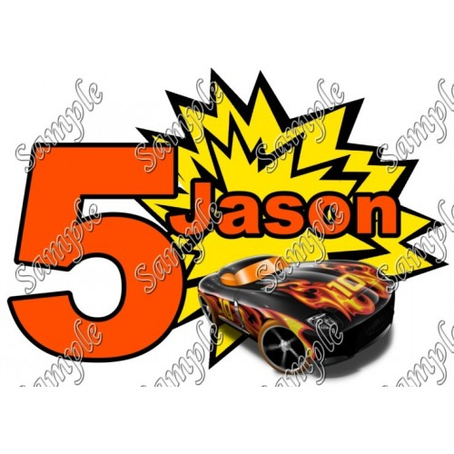 Hot Wheels Custom Personalized T Shirt Iron on Transfer Decal #89 by www.shopironons.com
