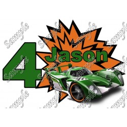 Hot Wheels Custom Personalized T Shirt Iron on Transfer Decal #91