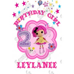 Lalaloopsy Birthday Girl Personalized Custom T Shirt Iron on Transfer Decal #5