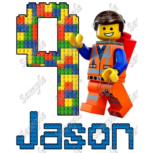 Lego Movie Emmet Birthday Personalized Custom T Shirt Iron on Transfer Decal #18 by www.shopironons.com