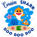 Baby Shark Family Member Custom T Shirt Iron on Transfer by www.shopironons.com