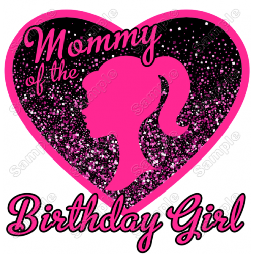 Barbie Birthday Family Member Personalized Custom T Shirt Iron on Transfer Decal by www.shopironons.com