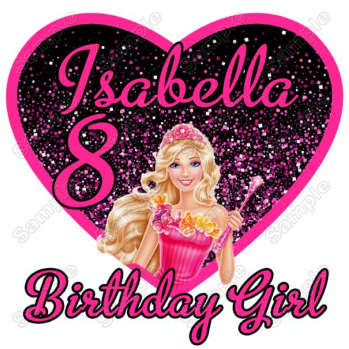 Barbie Birthday Personalized Custom T Shirt Iron on Transfer Decal #9 by www.shopironons.com