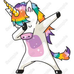 Dabbing Unicorn T Shirt Iron on Transfer #1