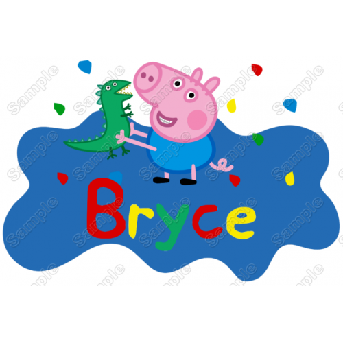 George Peppa Pig Birthday Personalized Custom T Shirt Iron on Transfer Decal by www.shopironons.com