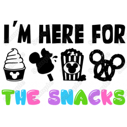 I'm Here For The Snacks T Shirt Iron on Transfer Decal