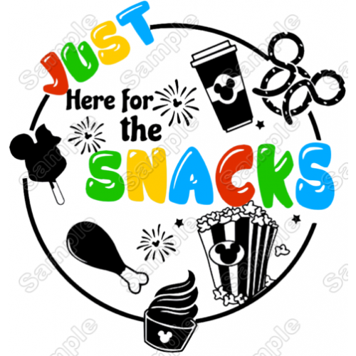Just Here For The Snacks T Shirt Iron on Transfer Decal #1 by www.shopironons.com