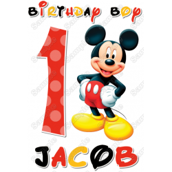 Mickey Mouse Birthday Personalized Custom T Shirt Iron on Transfer Decal