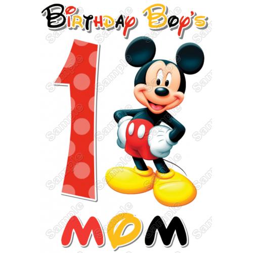Mickey Mouse Family Member Birthday Custom T Shirt Iron on Transfer