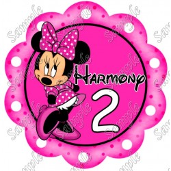 Minnie Mouse Birthday Party Custom Personalized T Shirt Iron on Transfer Decal