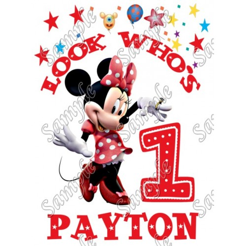 Minnie Mouse Birthday Personalized Custom T Shirt Iron on Transfer Decal #34 by www.shopironons.com