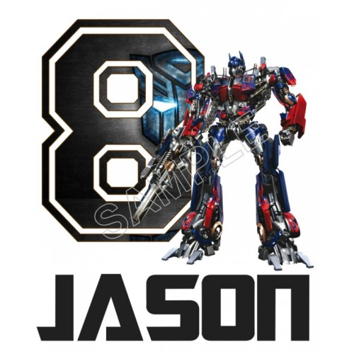 Optimus Prime (Transformers) Birthday Personalized Custom T Shirt Iron on Transfer Decal #1 by www.shopironons.com