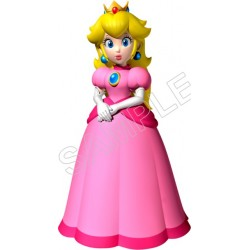 Super Mario Bros. Princess Peach T Shirt Iron on Transfer Decal #14