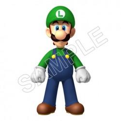 Super Mario Bros. Luigi T Shirt Iron on Transfer Decal #15