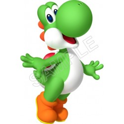Super Mario Bros. Green Yoshi T Shirt Iron on Transfer Decal #19