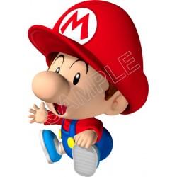 Super Mario Bros. Baby Mario T Shirt Iron on Transfer Decal #23