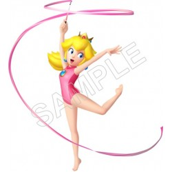 Super Mario Bros. Princess Peach Dancing With The Ribbon T Shirt Iron on Transfer Decal #27