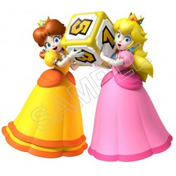 Super Mario Bros. Princess Peach and Daisy T Shirt Iron on Transfer Decal #28