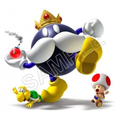 Super Mario Bros. Big Bob-omb T Shirt Iron on Transfer Decal #37