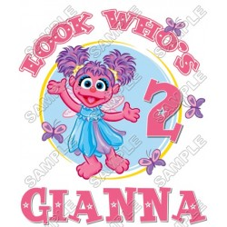 Abby Cadabby Birthday Personalized Custom T Shirt Iron on Transfer Decal #7