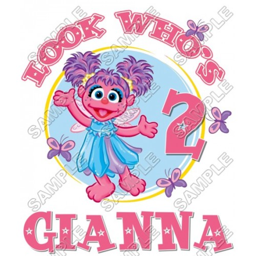 Abby Cadabby Birthday Personalized Custom T Shirt Iron on Transfer Decal #7 by www.shopironons.com