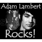 Adam Lambert T Shirt Iron on Transfer Decal #1 by www.shopironons.com